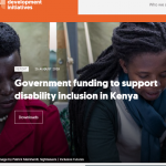 initiative report cover on disability inclusion