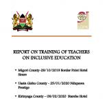 Training Teachers Report