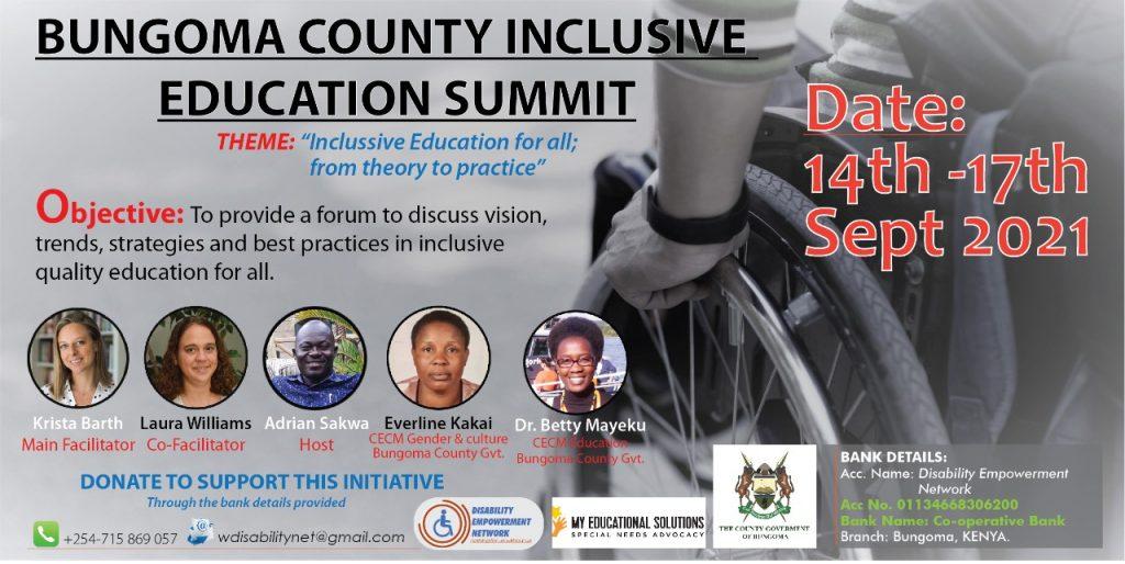 bugoma inclusive education summit poster
